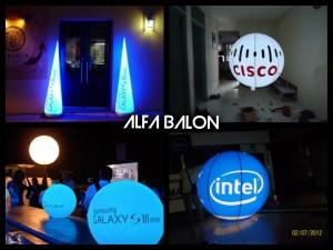 Balon Light Bulat