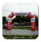 Balon gapura FUN RUN