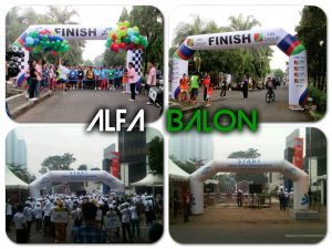 Sewa Inflatable Balon Gate start finish