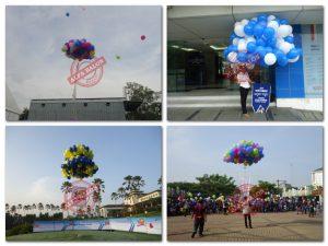 Balon Gas Pelepasan / balon gas helium / balon gas hidrogen yang kami jual bermutu tinggi dengan harga yang sangat bersaing, silakan dibuktikan. Jika kami menyediakan Balon Drop bagi Anda yang ingin memeriahkan acara konser atau festiva