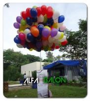 Balon Gas Pelepasan Banner